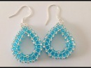 Tear Drop Earrings CRAW--Beginner Tutorial
