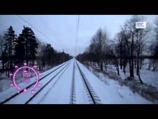 Савловское направление из кабины электрички