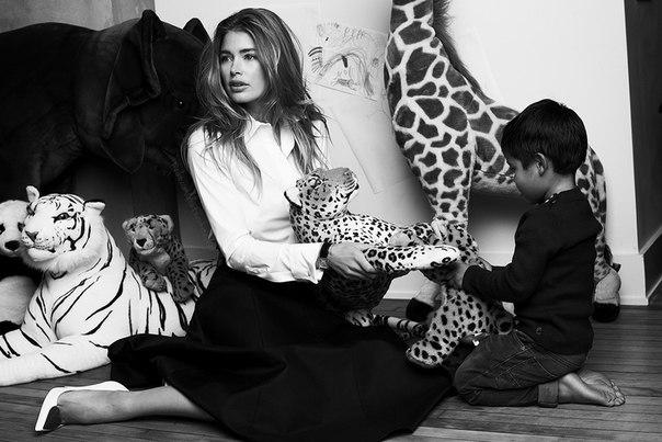 даутцен крез круз фотосессия с мужем детьми сыном дочкой ангел кивтория сикрет высокооплачиваемая модель 2015 фотосессия