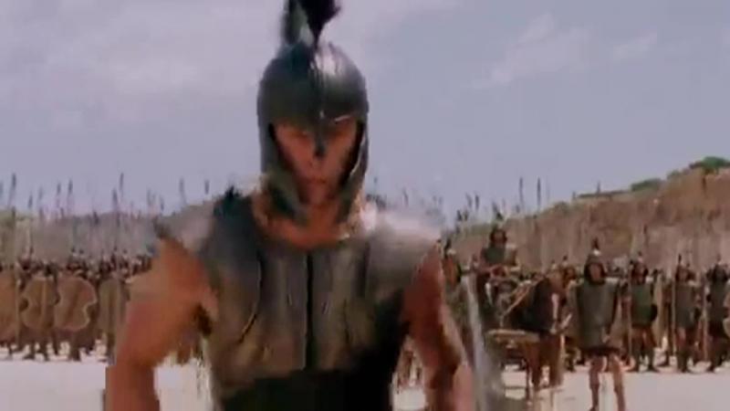 Бой между Ахиллесом и Багрисом.