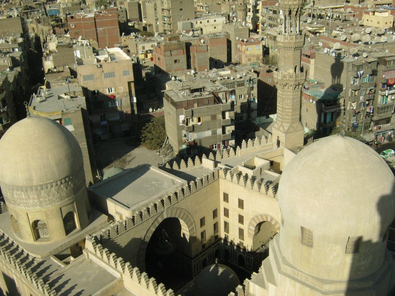 с минарета мечети Ахмед ибн Тулун