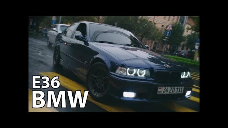 ★ Drift in traffic || Bmw e36 328i || Rainy wet asphalt drifting
