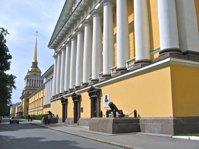 Санкт-Петербург, Адмиралтейство России. Исторические путешествия, кинозарисовка