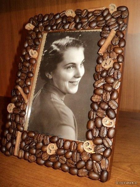 Кофейные рамки для фото своими руками