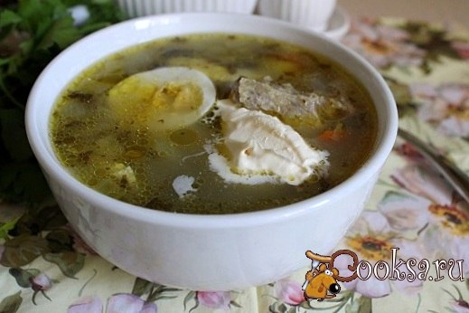 Мясной суп со щавелем и манкой Вкусный и сытный суп, отличный вариант для обеда в зимний день.