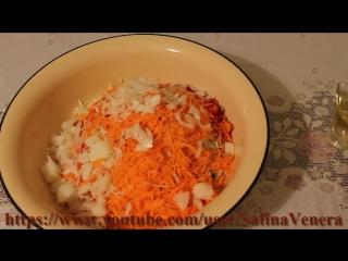 Салат из капусты, моркови и болгарского перца.