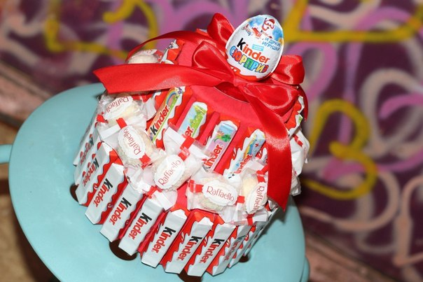 Тортики из конфет фото