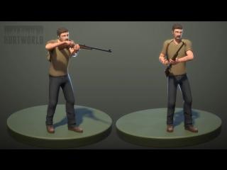 Анимация стрельбы из ружья в Альфа версии игры Hurtworld