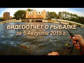 Видеоотчёт о рыбалке с лодки на Химмаше 05/08/2015