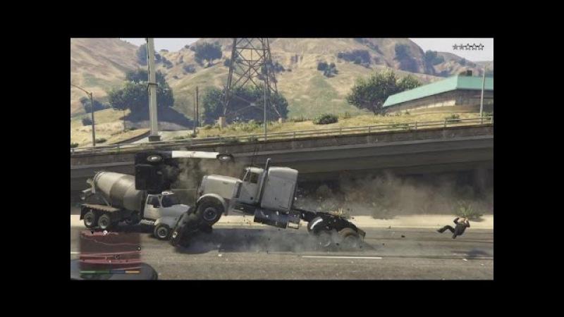 GTA 5 Best Crash Complication ever ГТА 5 Лучшие аварии в замедленной съёмке