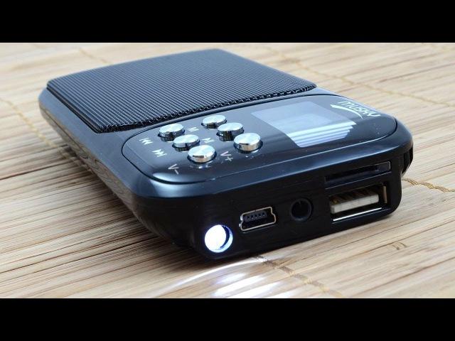 Мини-колонка с фонариком, MP3 плеером и радио MUSKY HJ-92