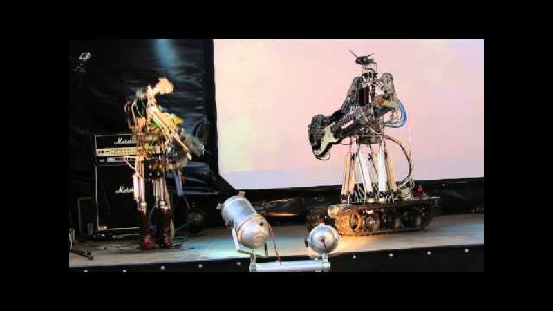 Compressorhead - T.N.T. (AC/DC Cover) (live in Moscow, Russia)