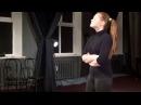 Актёрское мастерство обучение - отработка этюда с тарабарским языком
