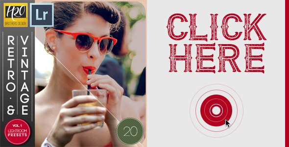 20 Retro and Vintage Lightroom Presets Vol. 2