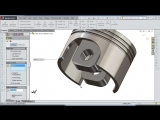 SolidWorks Tutorial #202- Piston (ver. 2)