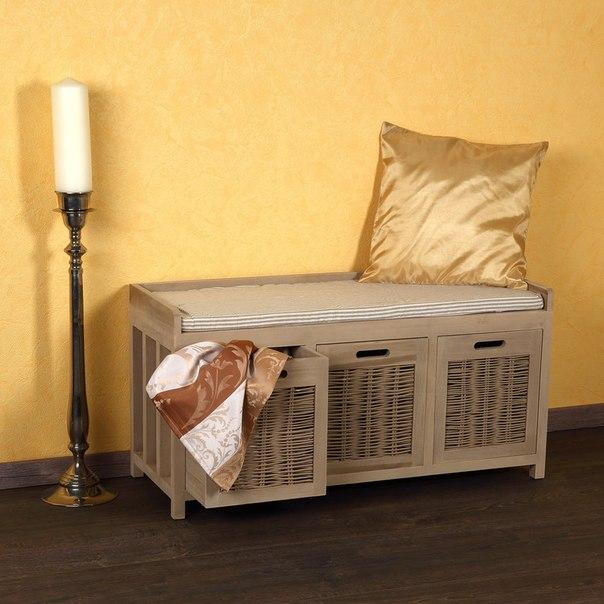 Banco silla taburete mueble de almacenaje zapatero baul de entrada pasillo ebay - Baul zapatero ...