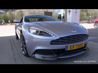 Aston Martin Vanquish - Start Up Revs! автомобиль, машина, тачка, суперкар, спорткар, Астон Мартин, звук двигателя