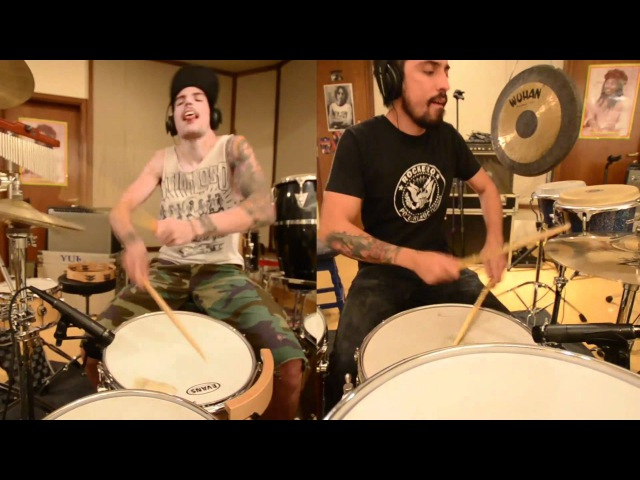 2drumashup | Queen - Fatboy Slim - Ghostbusters - Prodigy - CC Music Factory (drum cover / remix)