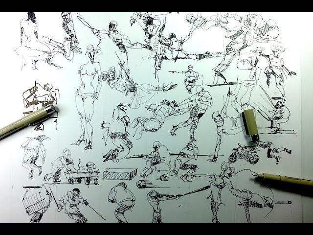 31 Quick Gesture Drawings People Sketches