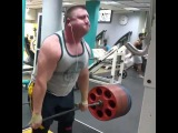 Влад Алхазов, становая тяга без ремня - 354 кг на 3 раза!