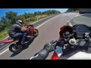 R1 vs CBR 1000RR Friendly races Wheelies TOP SPEED
