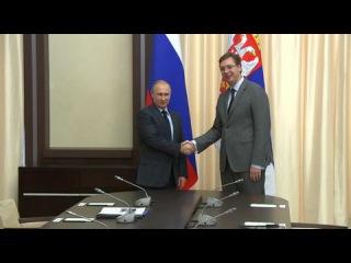 Вести.Ru: Владимир Путин провел встречу с премьером Сербии