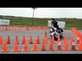Полиция США 180 го уровня сдаёт экзамен на мотоцикле