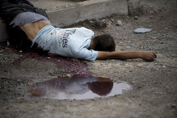 Житель Луганска, погибший во время артиллерийского обстрела города