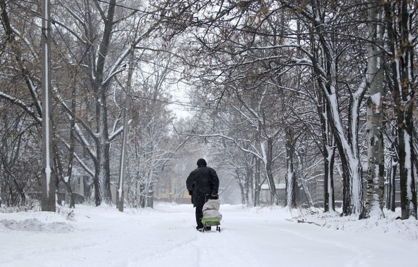 Зима в Киевском районе Донецка