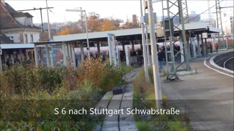 Feuerbach - S-Bahn Stuttgart mit ET 423 ET 430 - ICE 1 Velaro D - ICs - ET 425 - BR 146