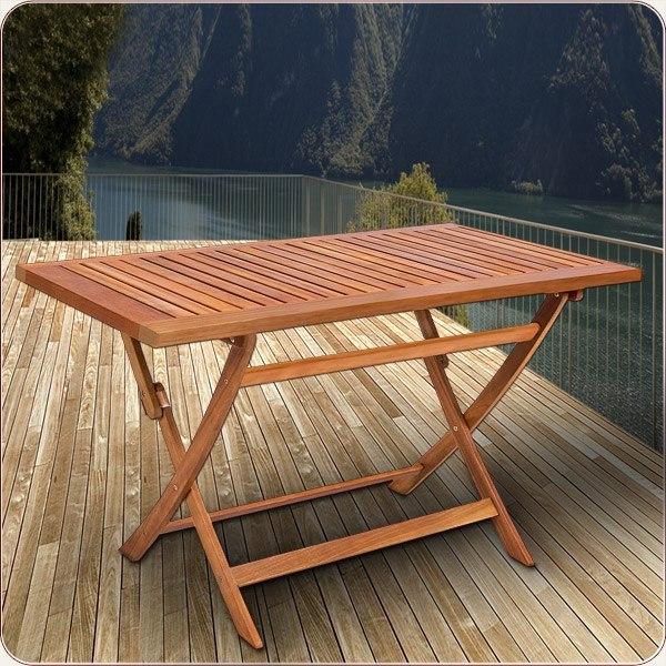detalles de mesa plegable de madera acacia para jardin balcon