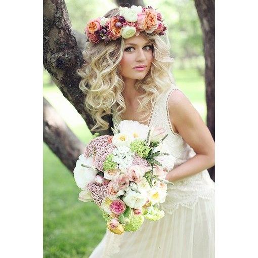 Фото с венками из цветов