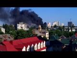 14.06.15 горит жилой дом на Дарнице