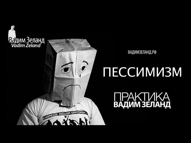 ❑ Пессимизм Вадим Зеланд ″ПРАКТИКА″