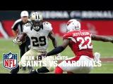 Saints vs. Cardinals | Week 1 Highlights | NFL