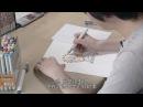 Masashi Kishimoto рисует наруто и саске