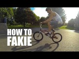 How to fakie BMX (Как сделать фэйки на BMX, MTB) Школа BMX Online #8 Дима Гордей