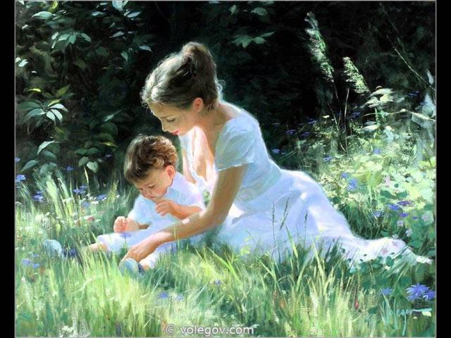 Мама, мне на тебя не наглядеться Картины Владимира Волегова