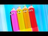 Развивающий мультфильм Каракули. Уроки рисования для детей - Как нарисовать снеговика