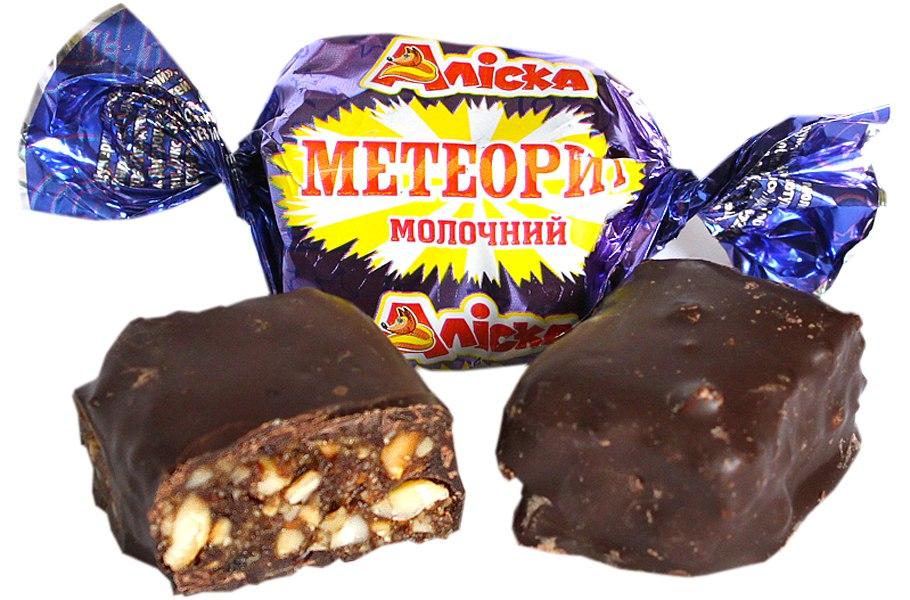 Цукерки Метеорит молочний