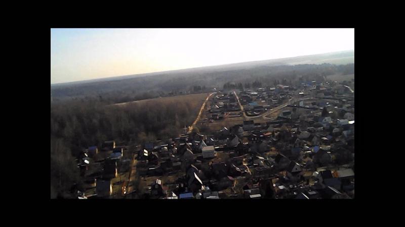 Первый полет квадрокоптера на даче