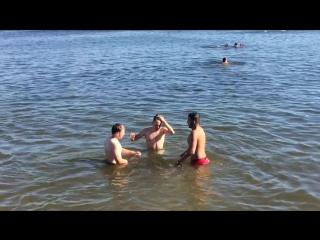 Пляж в Строгино