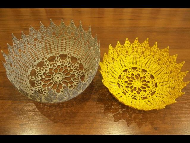 Ваза крючком По схеме салфетки крючком Салфетка крючком Часть 1 Vase crochet P 1