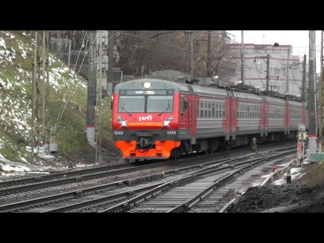 Электропоезд ЭД4М-0448 станция Москва-Пассажирская-Смоленская