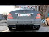 Custom Unlimited.Custom cat-back на компонентах Borla на Mercedes C180 AMG-style