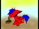 Dimon Bro and flower - MLP OC SpeedPaint