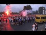 16 08 2014 По главной улице Запорожья прошёл гей парад и марш неонацистов Коломойского