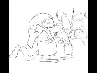 Кот Петсон (Петсон и Финдус) Как нарисовать?