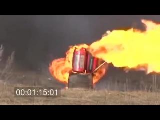 Взрывобезопасные композитные баллоны для пропана - тест на взрыв