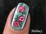 FLOWER NAIL ART TUTORIAL | VINTAGE ROSE FLORAL DESIGN SWIRL HOW TO EASY MANICURE PRETTY HOMEMADE